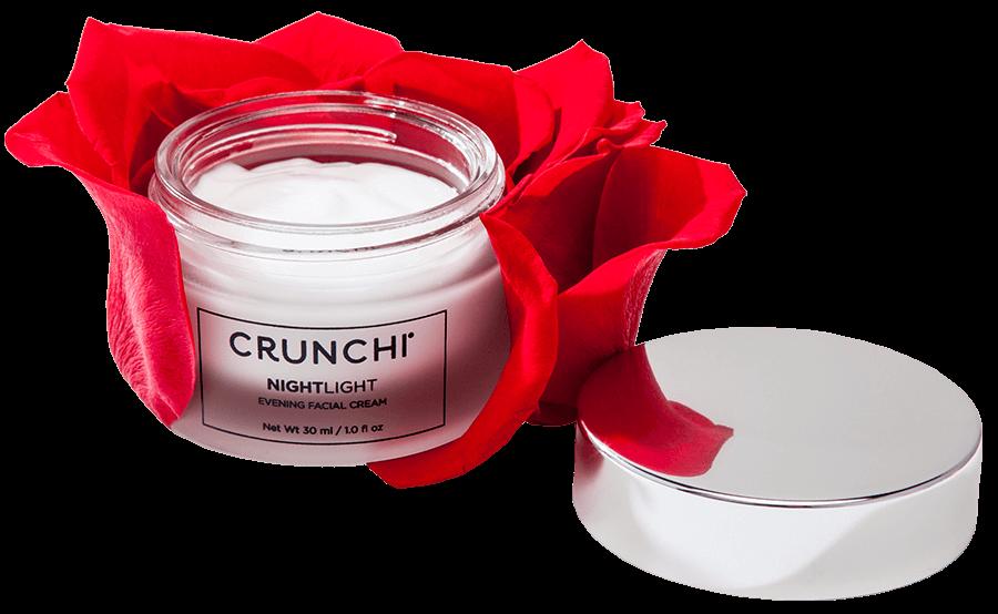 Nightlight Facial Cream with rose petals