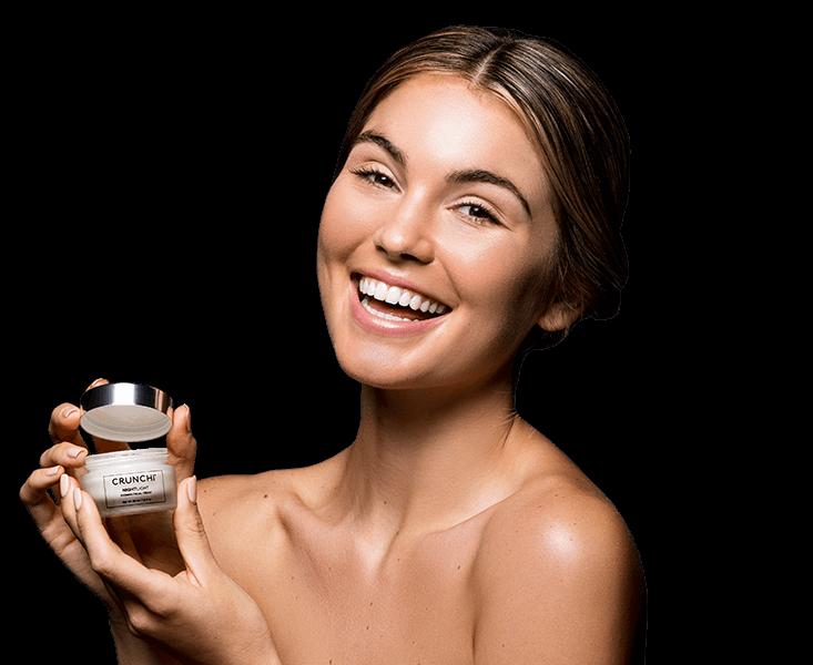 Nightlight Facial Cream on skin