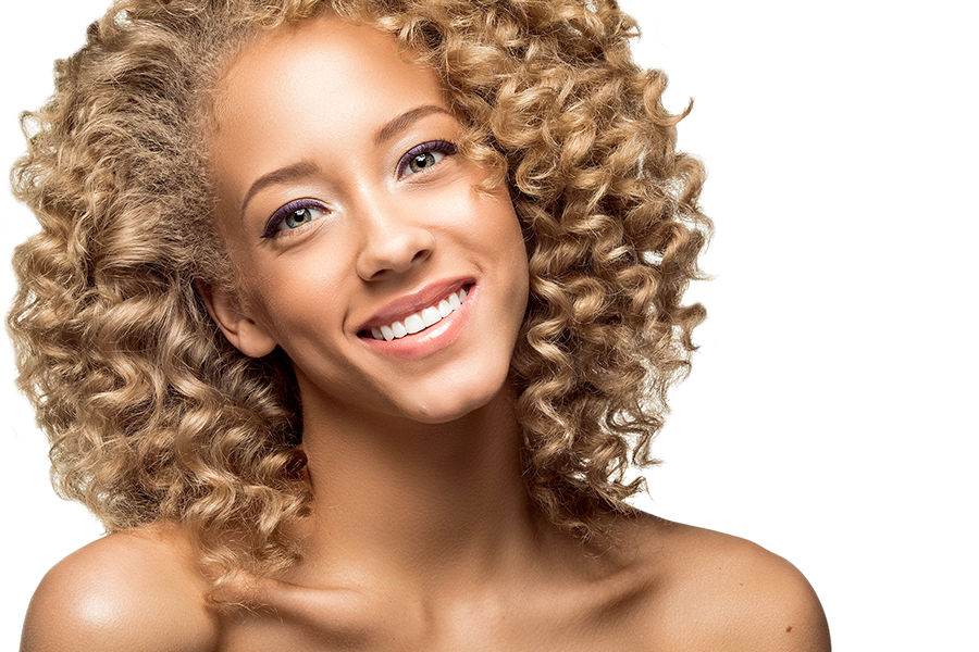Woman with Translucent Finishing Powder Applied