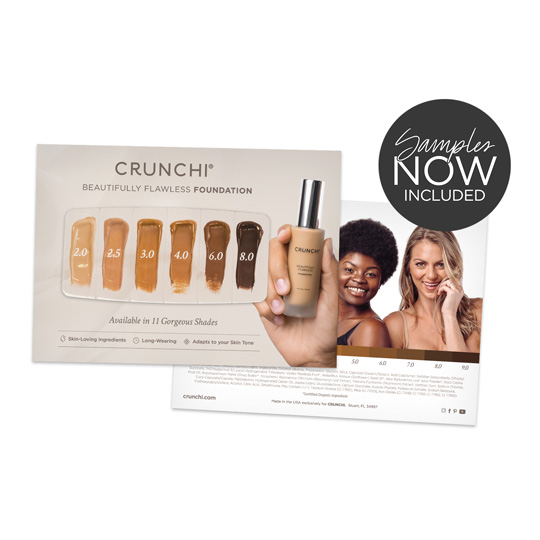Foundation Shade Sample Card
